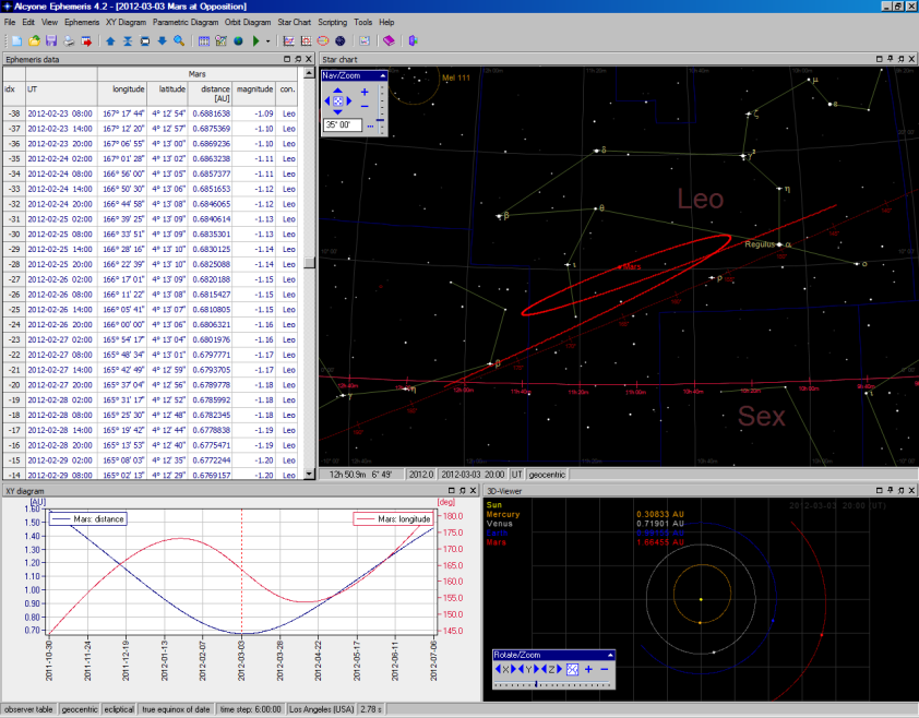 Alcyone Ephemeris screenshot